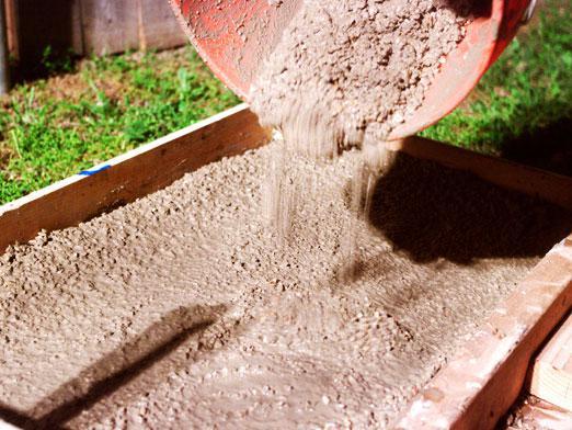 Разведение цемента с песком