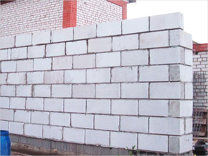 Кладка стен гаража из газоблоков