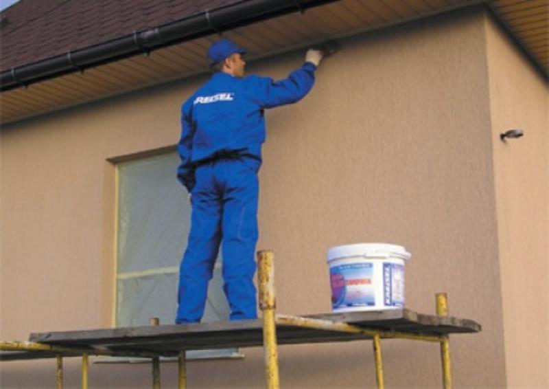 Покраска бетонного фасада