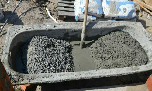 Пропорции для замешивания бетона