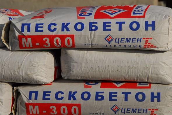 Упаковка пескобетона М-300