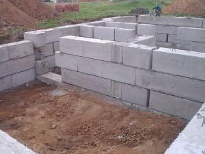 Устройство фундамента из блоков
