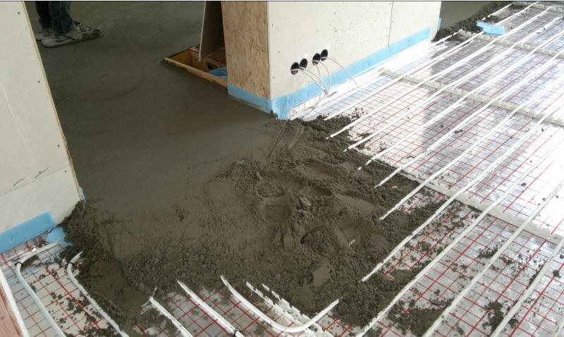 Расход цемента и песка